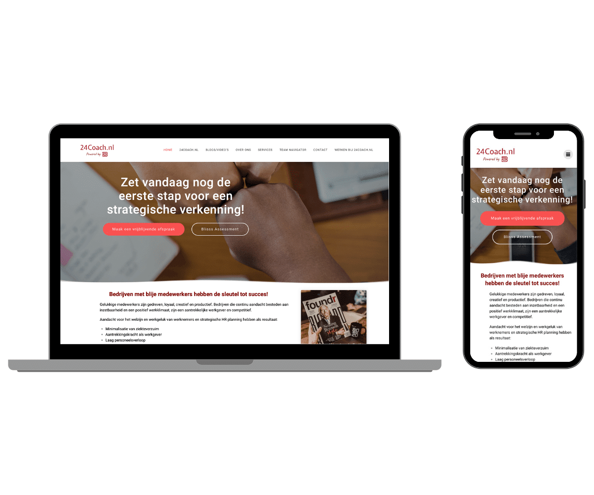 blisss consulting responsive website