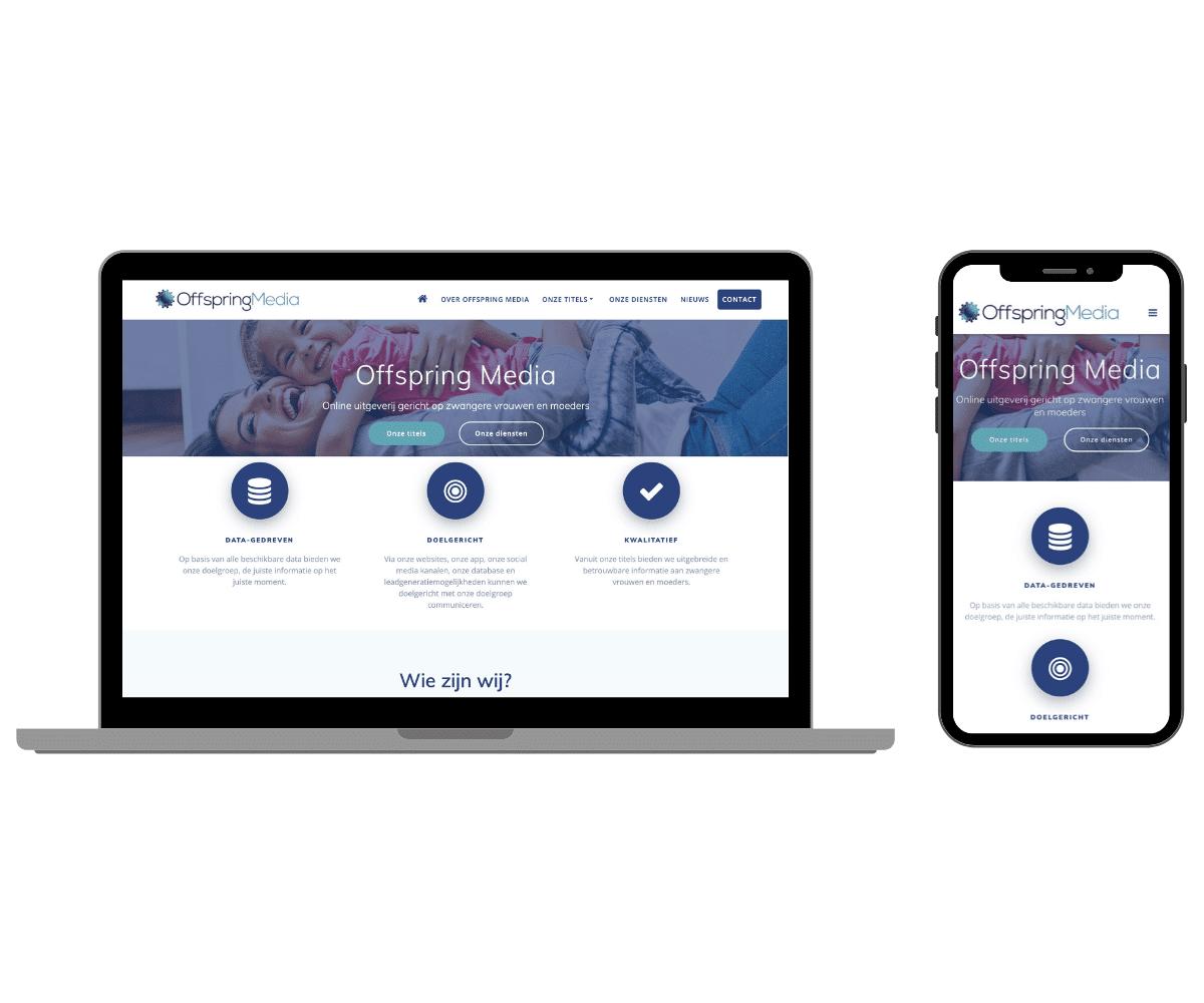 offspring media responsive website